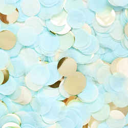 Baby Blue & Gold Confetti Mix