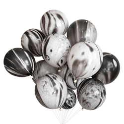 Black and White Marble Balloons