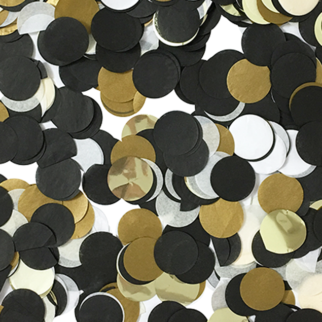 Black Tie Confetti Mix