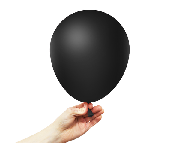 "11"" Solid Latex Balloons - Black"