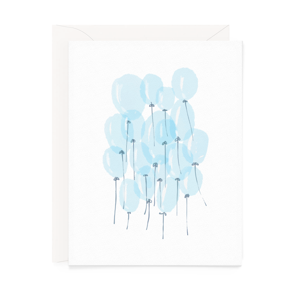 Blue Balloons Greeting Card