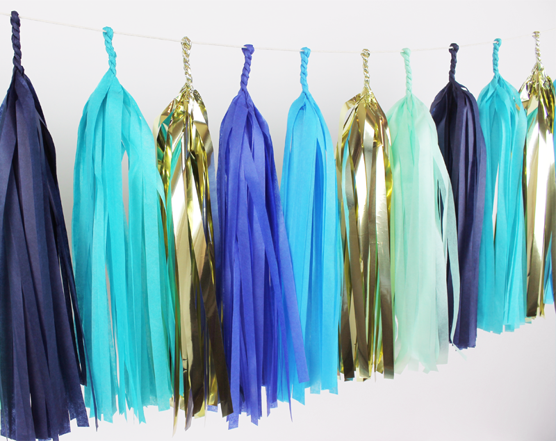 Blue Party Tassel Garland Kit
