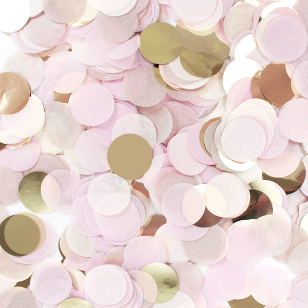 Blush Pink & Gold Confetti Mix