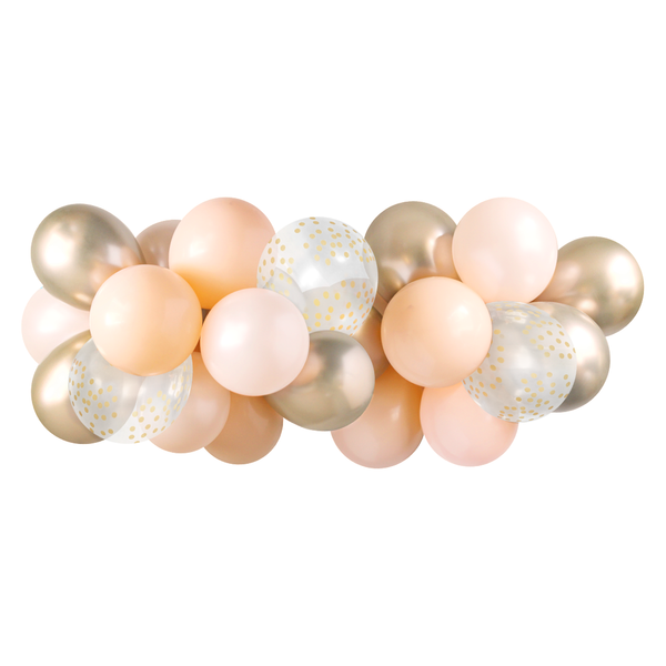 Balloon Garland - Blush & Gold
