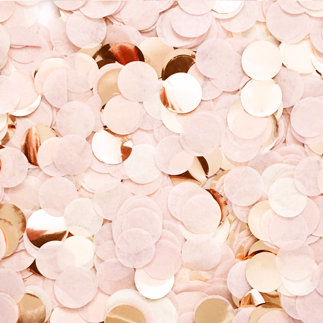 Blush Pink & Rose Gold Confetti