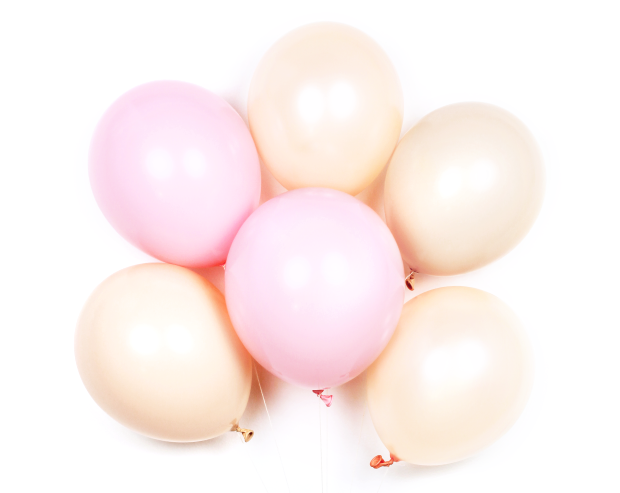 "Blush Mix 11"" Latex Balloons"