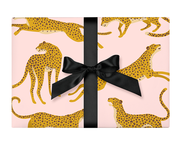 Blush Cheetah Wrapping Paper