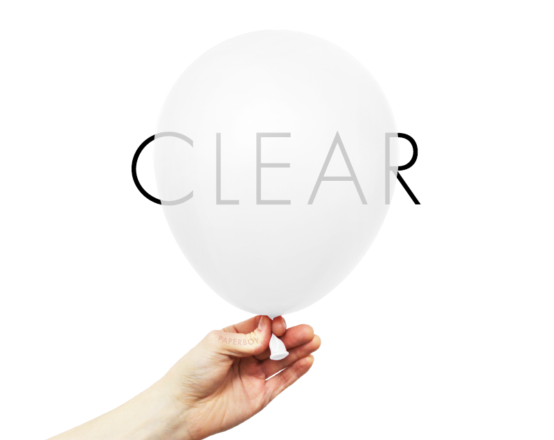 "11"" Solid Latex Balloons - Clear / Transparent"