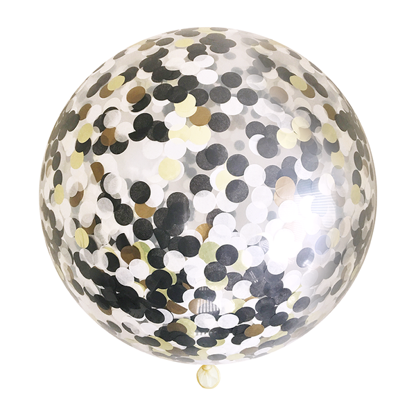 Black Tie Confetti Balloon