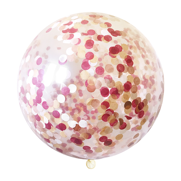 Burgundy Confetti Balloon