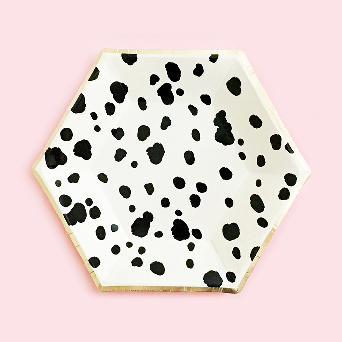Dalmatian Black & White Paper Plates - Small