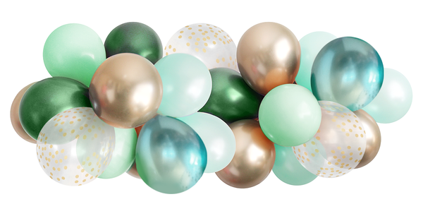 Balloon Garland - Emerald Green