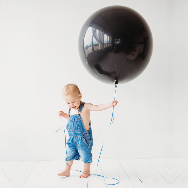 "Jumbo 36"" Round Latex Balloon - Black"
