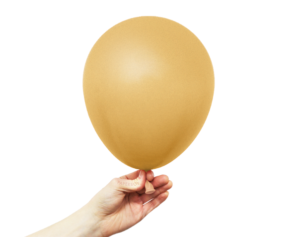 "11"" Solid Latex Balloons - Gold"