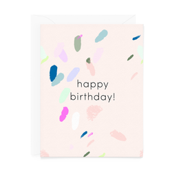 Happy Birthday Abstract Painting Card