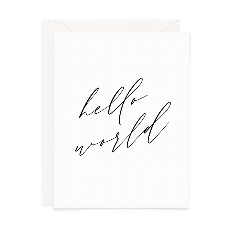 Hello World Baby Card (Black & White)
