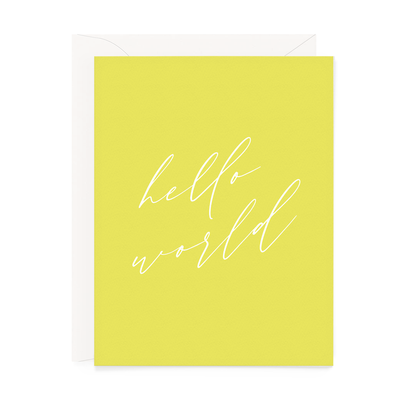 Hello World Baby Card