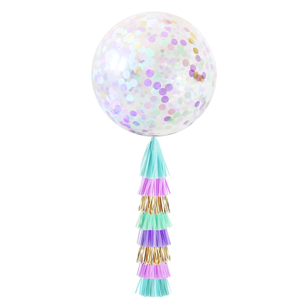 Confetti Balloon with Tassels - Mermaid