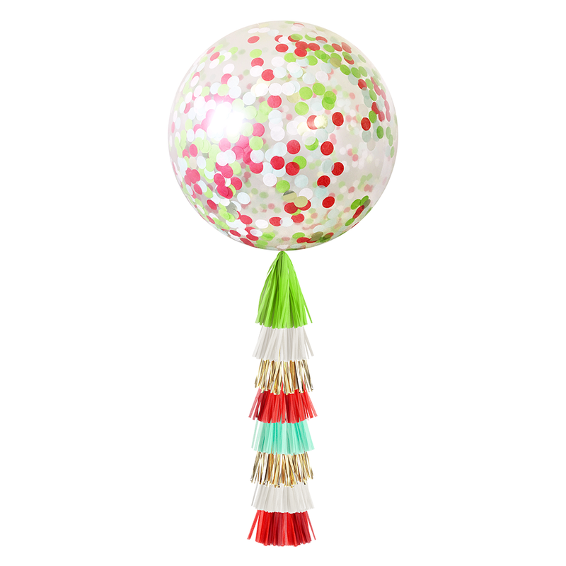 Confetti Balloon with Tassels - Christmas