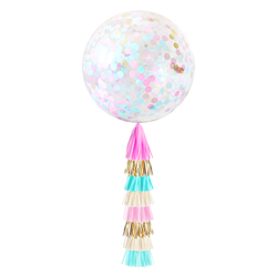 Confetti Balloon with Tassels - Gender Reveal