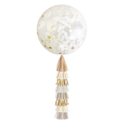 Confetti Balloon with Tassels - Champagne Gold