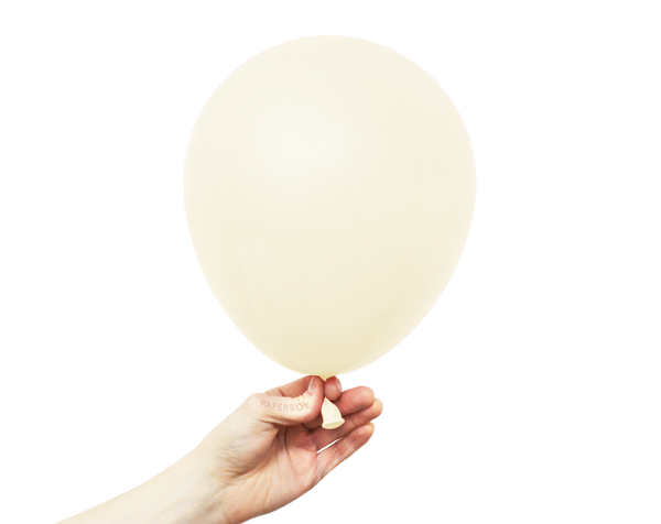 "11"" Solid Latex Balloons - Ivory"