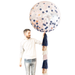 Giant Confetti Balloon with Tassels - Navy, Blush & Rose Gold