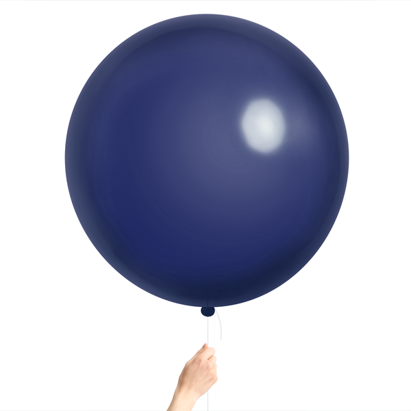 "Jumbo 36"" Round Latex Balloon - Navy"
