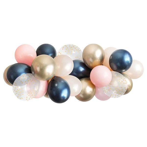 Balloon Garland - Navy & Pink