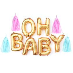 Oh Baby Letter Balloon Garland