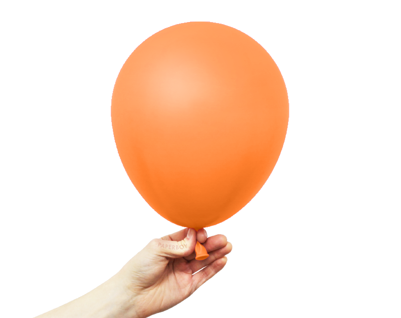 "11"" Solid Latex Balloons - Orange"