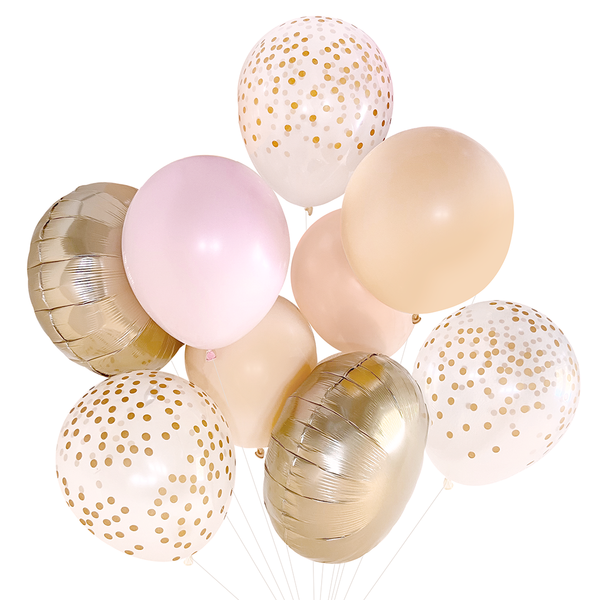 Blush & Gold Balloon Bouquet