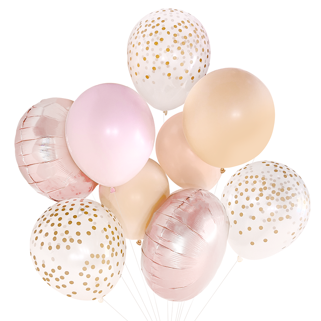 Blush Rose Gold Balloon Bouquet Paperboy