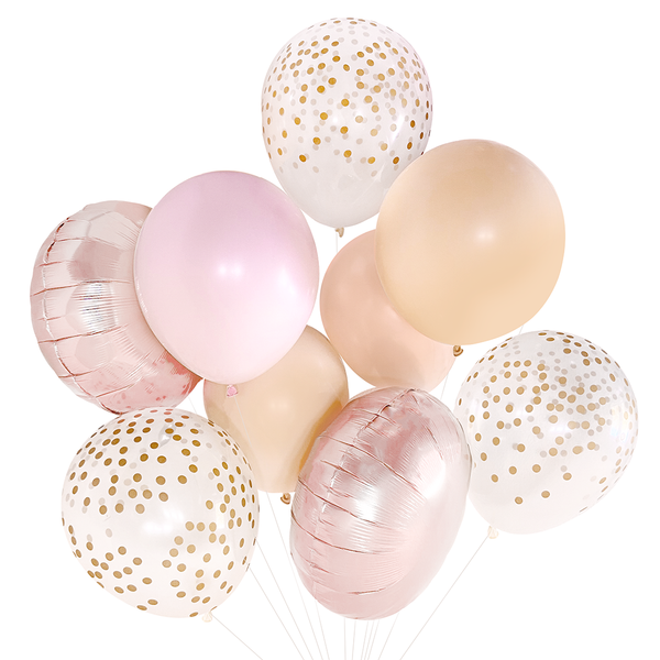 Blush & Rose Gold Balloon Bouquet