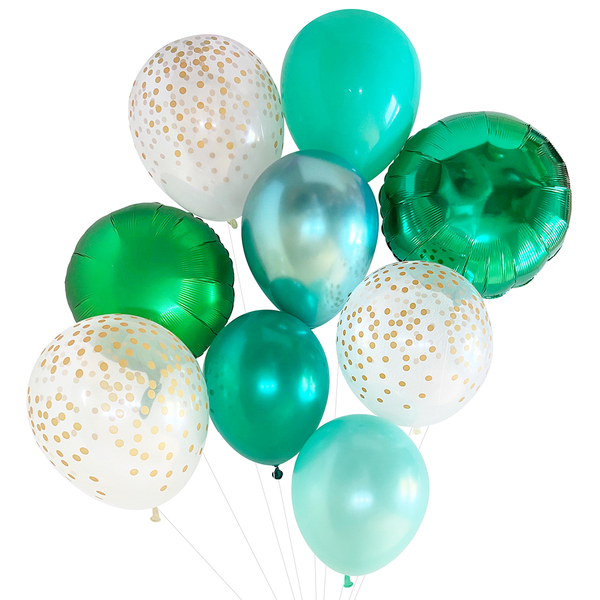 Emerald Green Balloon Bouquet