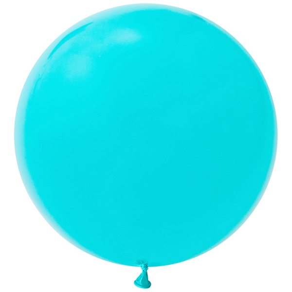 "Jumbo 36"" Round Latex Balloon - Caribbean Blue"