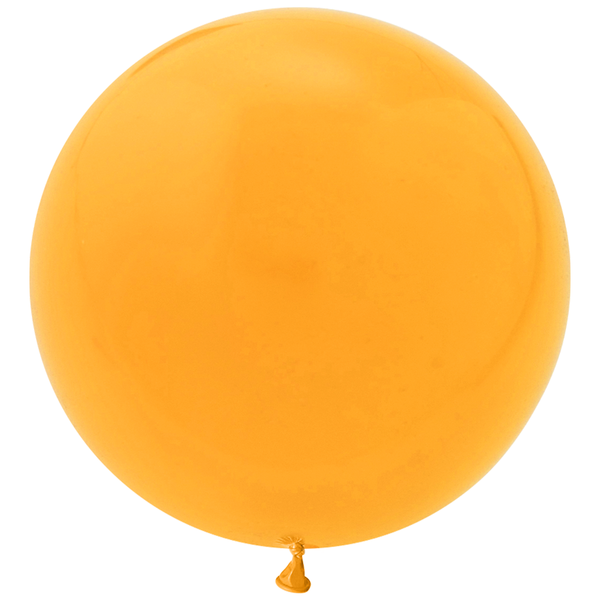 "Jumbo 36"" Round Latex Balloon - Goldenrod Orange"
