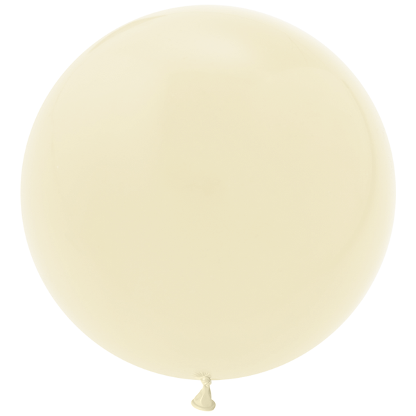 "Jumbo 36"" Round Latex Balloon - Ivory"
