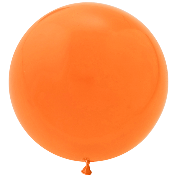 "Jumbo 36"" Round Latex Balloon - Orange"