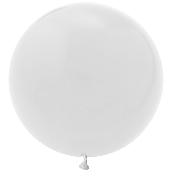 "Jumbo 36"" Round Latex Balloon - White"