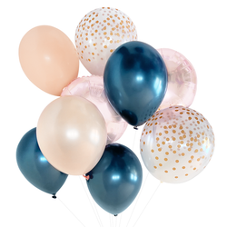 Blush & Navy Balloon Bouquet