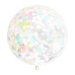Giant Confetti Balloon with Tassels - Pastel Rainbow