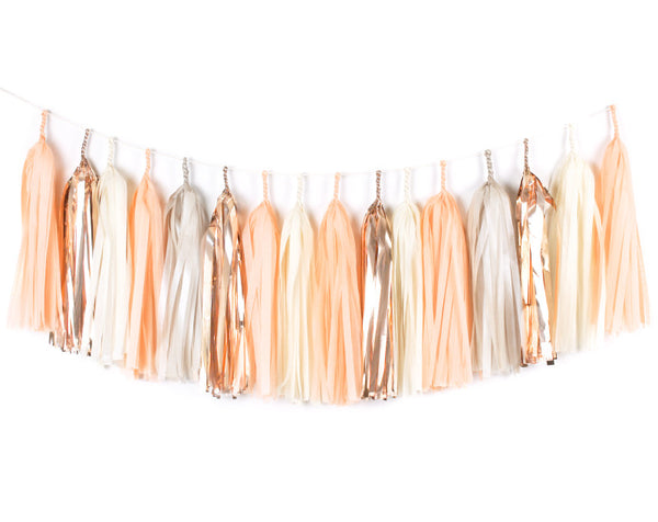 Peach Tassel Garland Kit