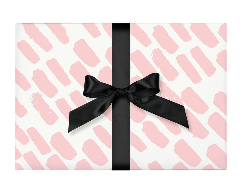 Pink Abstract Paint Wrapping Paper