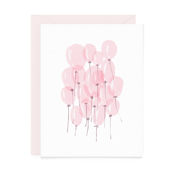 Pink Balloons Greeting Card