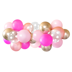 Balloon Garland - Pink and Gold