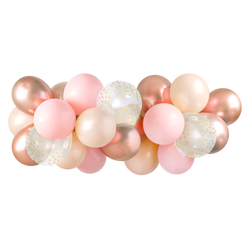 Balloon Garland - Pink & Rose Gold