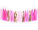 Pink Party Ombre & Gold Tassel Garland Kit
