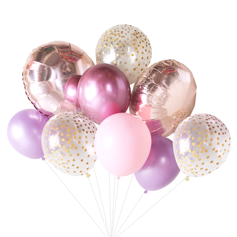 Lilac Rose Balloon Bouquet