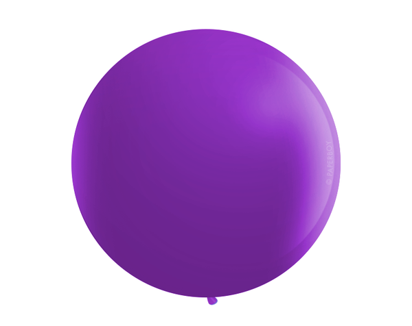 "Jumbo 36"" Round Latex Balloon - Violet Purple"